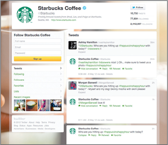 Starbucks asks fans to post images to redeem special offers