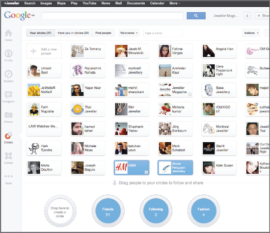 Manage circle of friends in your network