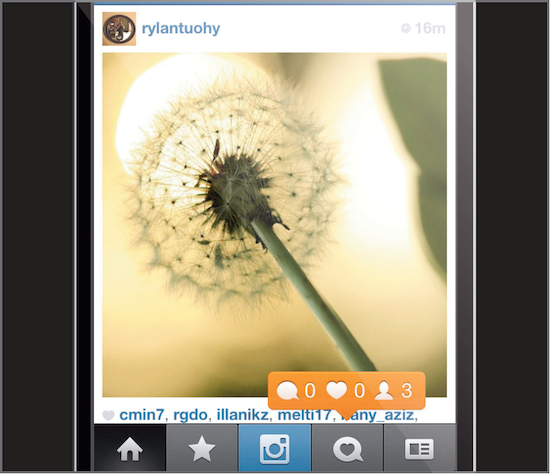 Upload and share your images on your Instagram account
