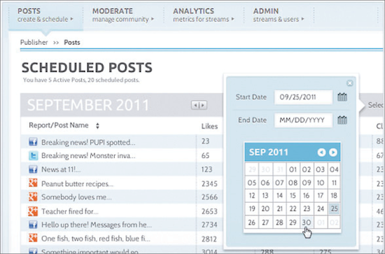 Vitrue: Organise and schedule all your social media posts in one panel