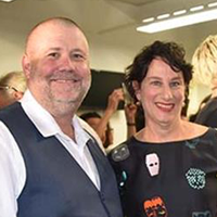 Gary Fitz-Roy, Expertise Events managing director, and Gina Kind, Sydney TAFE acting head jewellery teacher