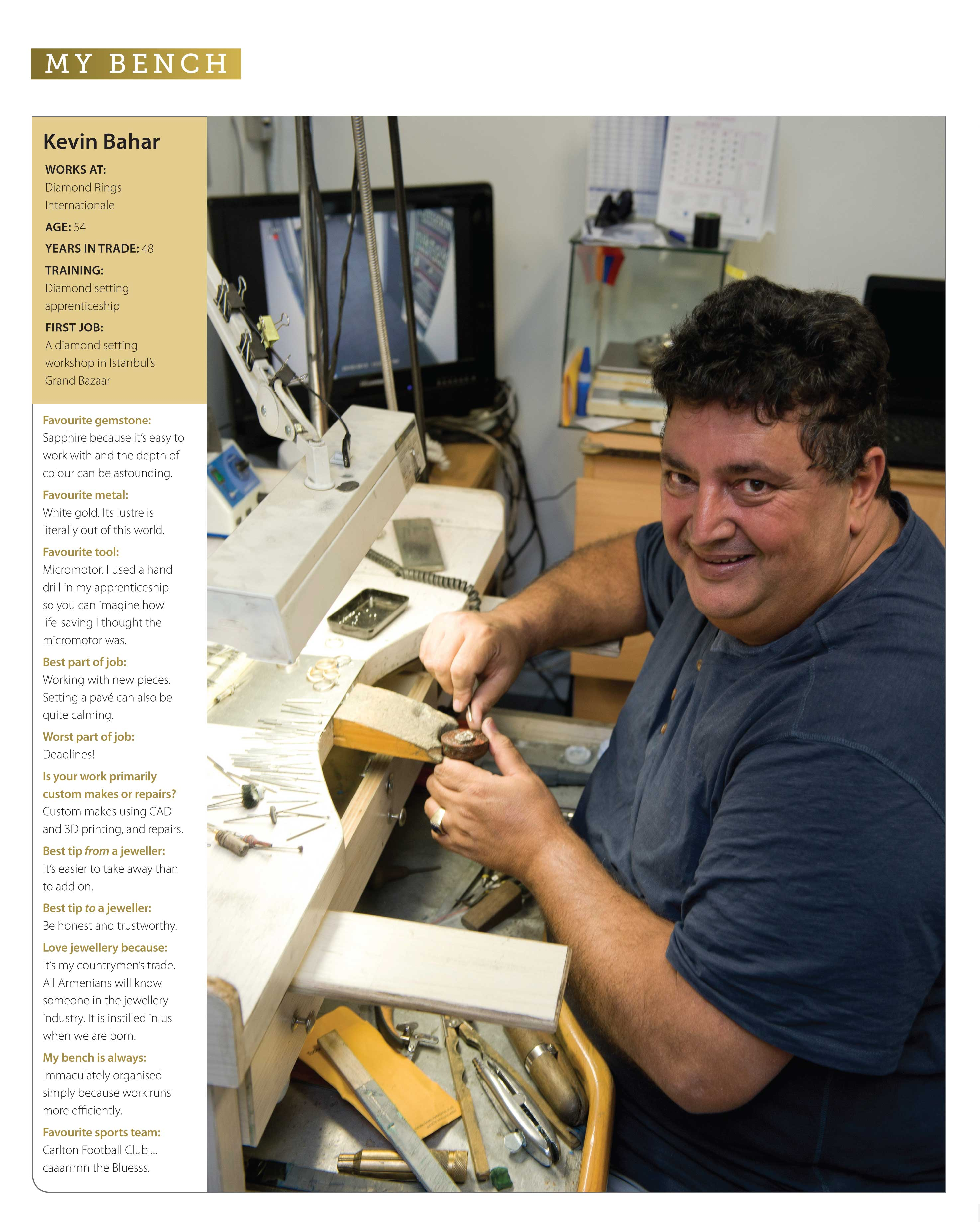 my bench: jewellers at the coalface - jeweller magazine: jewellery