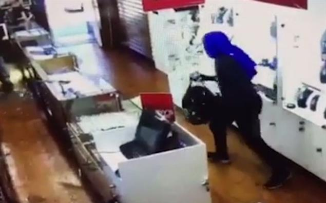 CCTV footage of H&H Jewellery robbery