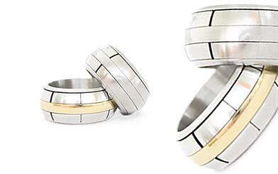 A selection of The High Roller rings