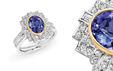 Mark McAskill Jewellery's tanzanite and diamond ring