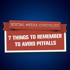 Like anything good, social media has its pitfalls. Keep these things in mind when planning a campaign.