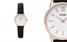 Cluse's La Vedette rose gold white/black watch