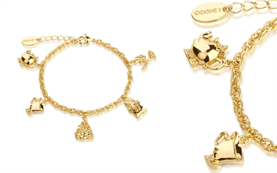Disney Couture's Beauty and the Beast charm bracelet