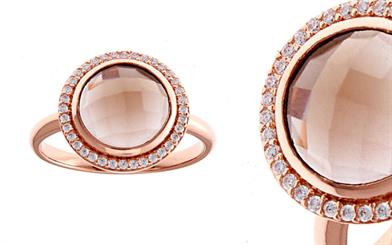Sybella Jewellery's rose gold-plated smoky quartz ring