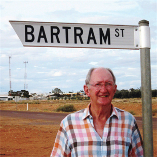 Alan Bartram on Bartram Street, Cooper Pedy