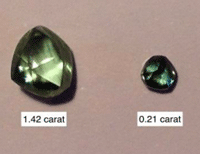 The largest stone weighs 1.4 carats