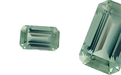 Langford Gems and Lapidary's emerald-cut mint-green aquamarine