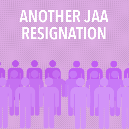 Bolton's departure from the board is the third JAA resignation in less than a year