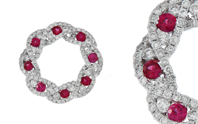 Osia International Pacific's ruby and diamond pendant