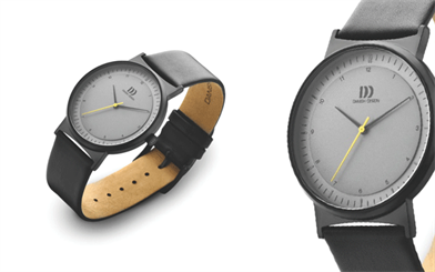 Danish Design's matte black ion-plated stainless steel watch