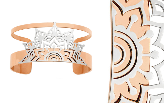 Pastiche's rose gold-plated stainless steel Desire bangle