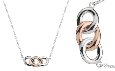 Najo's sterling silver and rose gold-plated Generosity necklace