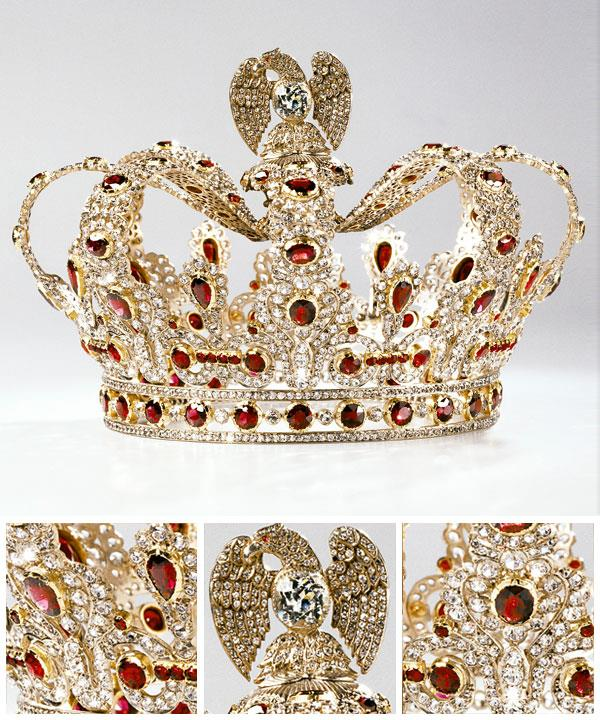 NITOT ET FILS, Paris (manufacturer) France 1780–1814 Coronet from replica of the ruby and diamond parure of Empress Marie-Louise 1809–11 gold, silver, white sapphires, diamonds, garnets.