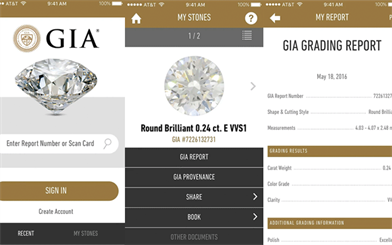 The GIA's new service traces a diamond's origin, and includes an app for consumers