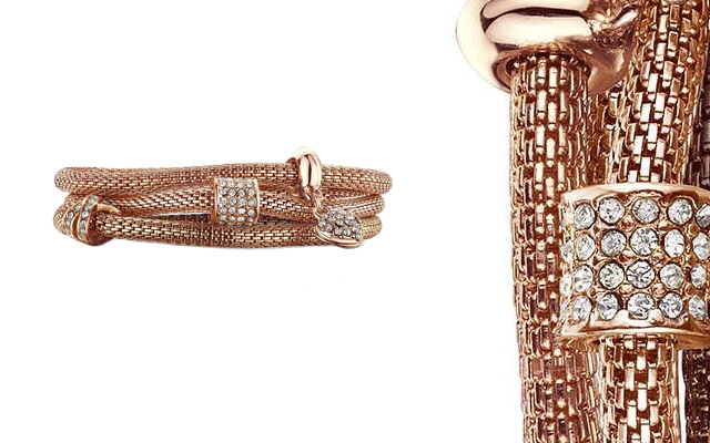 Buckley London's rose gold XO mesh bracelet