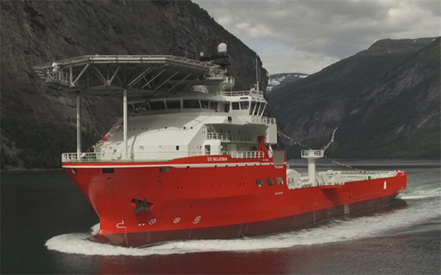 The mv SS Nujoma is the world's largest and most advanced diamond exploration and sampling vessel. Image courtesy: De Beers