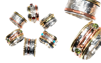 Mountain Creek Jewellery's spinning rings