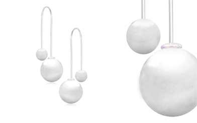 Stones & Silver's thread through Euro Ball earrings