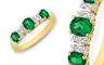 La Couronne's emerald and diamond ring