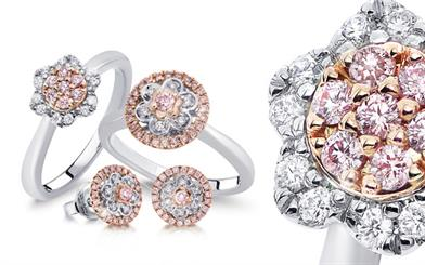 Blush Pink Diamonds' rings