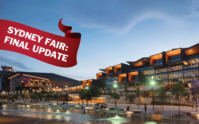 Last minute announcements continue ahead of the Sydney fair, which is held at the new ICC at Darling Harbour