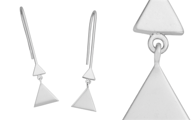 Fabuleux Vous' sterling silver triangle earrings