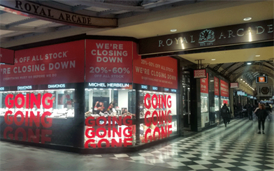 Thomas Jewellers has announced it will shut up shop in Melbourne's Bourke Street Mall