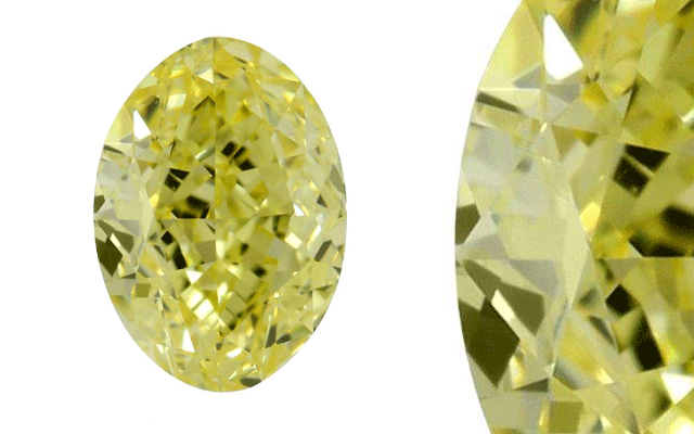 MiaMor Diamonds' fancy yellow oval diamond
