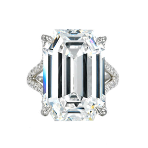 The step-cut 16.9-carat diamond ring was the top-selling lot at US$1.8 million (AU$2.2 m)