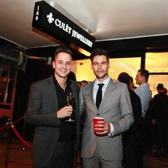 Scotty Nicols and Dane Rumble at the opening of Culet Jewellery