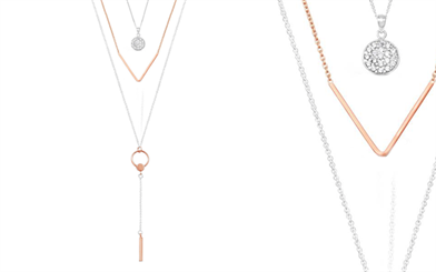 Stones & Silver's layering necklaces