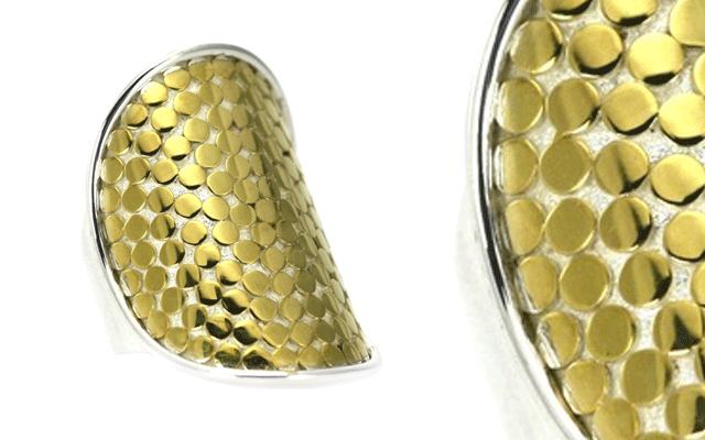 Indiri's sterling silver and gold vermeil-plated ring