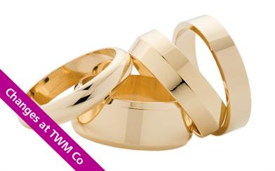 TWM Co is offering a same-day order and return service for its 'plain' wedding ring range