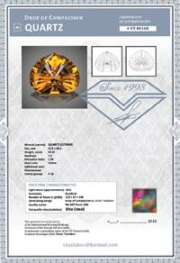 Sample of author's certificate with cut grading by Victor Tuzlukov