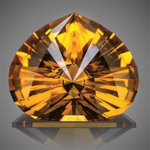 Citrine 'drop of compassion'. Image courtesy: Dmitry Stolyarevich