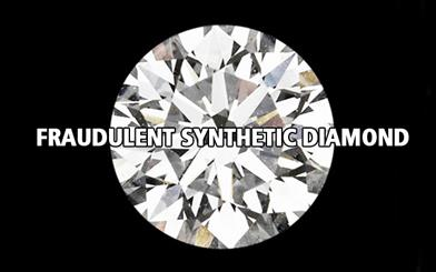 The GIA recently discovered a synthetic diamond that featured a fraudulent 'natural' diamond inscription
