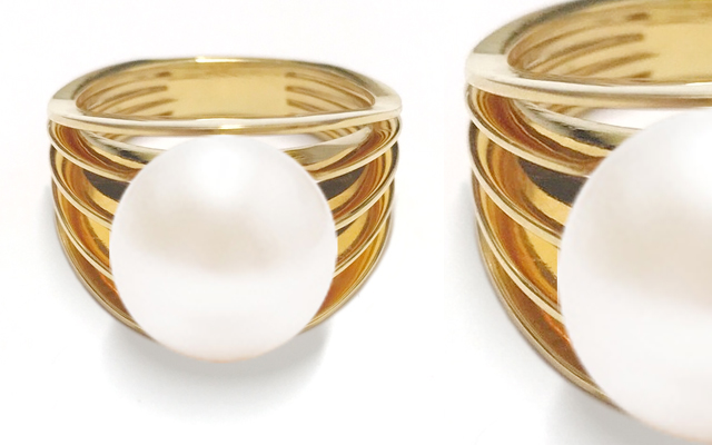 Atlas Pearls and Perfume's Edged pearl ring