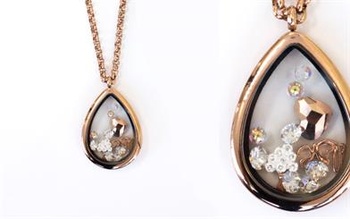 Love Locket's Summer Rose teardrop locket