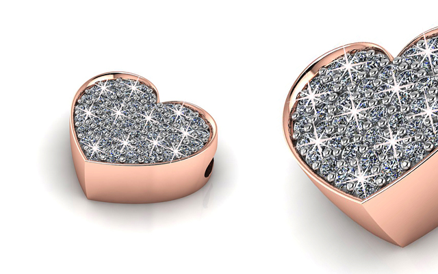 Love In A Jewel's rose gold full heart pendant with special compartment