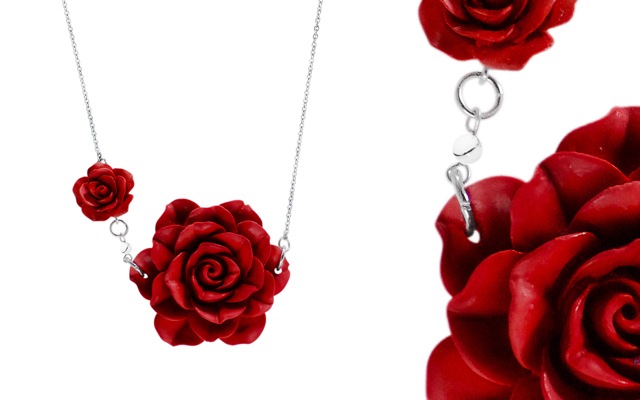 Fabuleux Vous' Garden of Eden red necklace