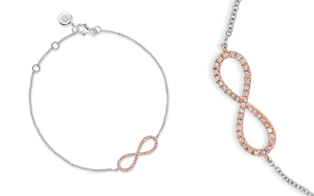Blush Pink Diamonds' Infinite Love bracelet