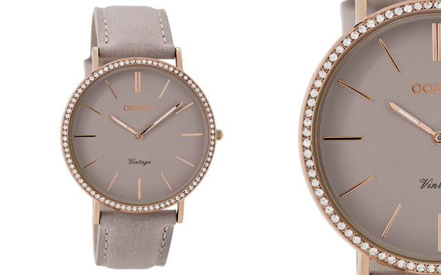 Oozoo Timepieces' Taupe Vintage Timepiece