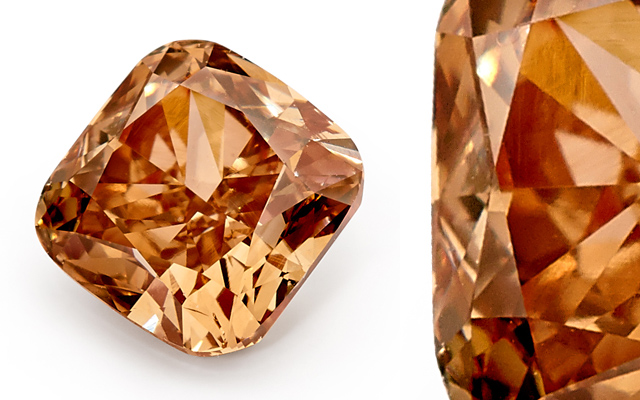 Bolton Gems' cushion chocolate diamond