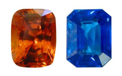 Orange & Blue Sapphires