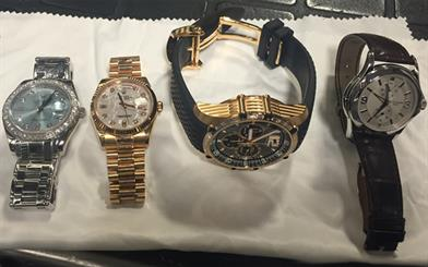 High-end watches are some of the items that were stolen from a Melbourne property last month